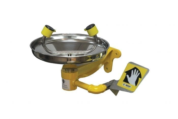 Wall Mounted Eyewash with Stainless Steel Bowl
