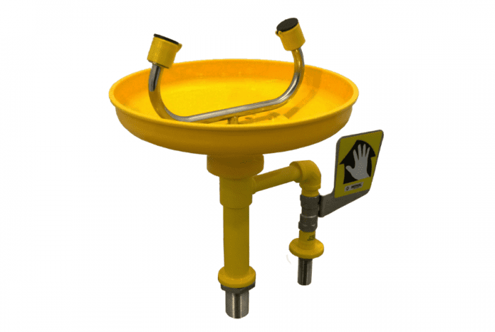 METHOD Bench Mounted Eyewash with ABS Plastic Bowl