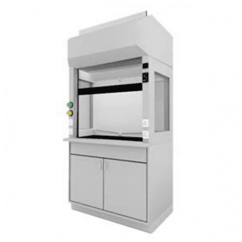 METHOD Teaching Fume Hood 3 Sided Glass