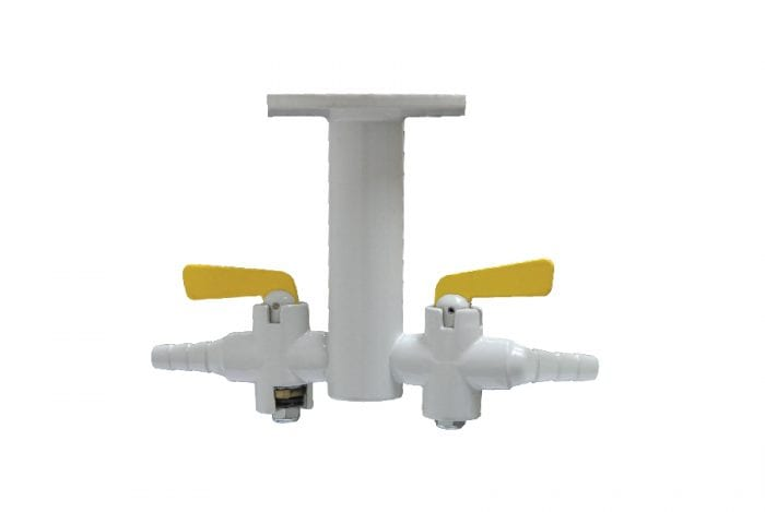 METHOD Gas Fittings 2 Way 180° Drop Key Ceiling Gas Valve