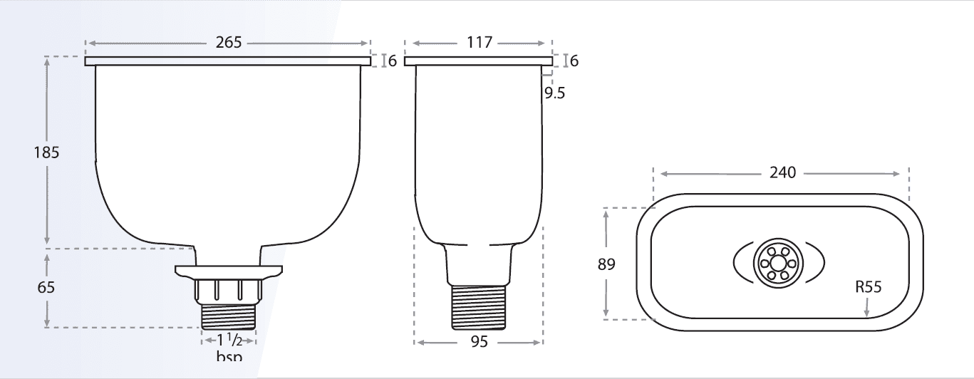 Laboratory Oval Drip Cup Drawing