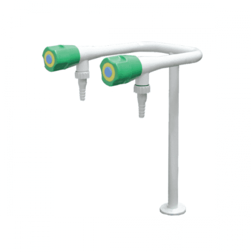 METHOD Water Fittings 2 Way Water Lab Tap with PP Nozzle
