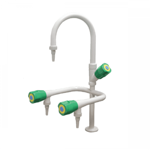 METHOD Water Fittings 3 Way Water Lab Tap with PP Nozzle